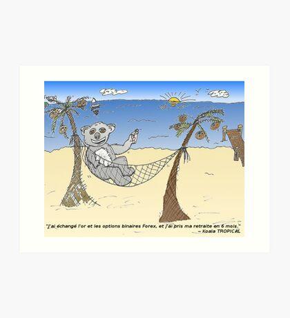 news options binaires en bd un trader ourse koala Art Print