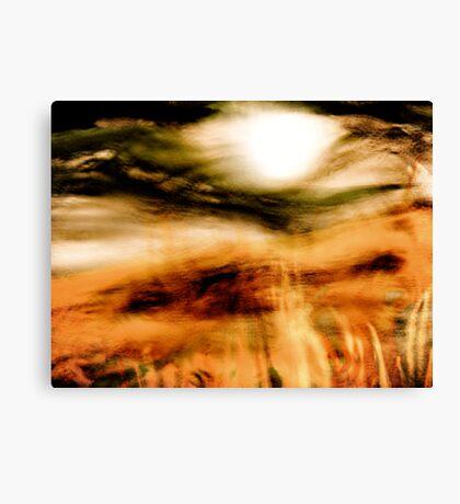 sun through the mist Canvas Print