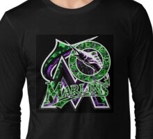 MARLINS BLACK Long Sleeve T-Shirt