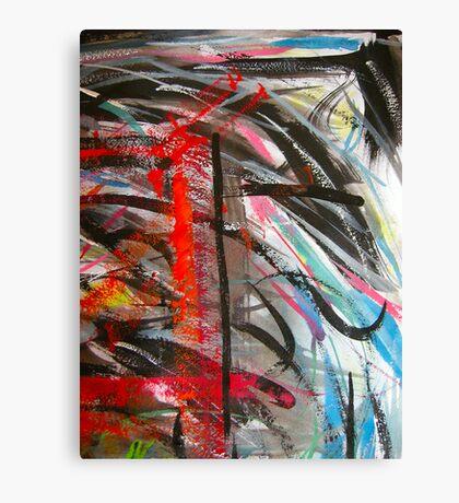 sky blue... red window #3 Canvas Print