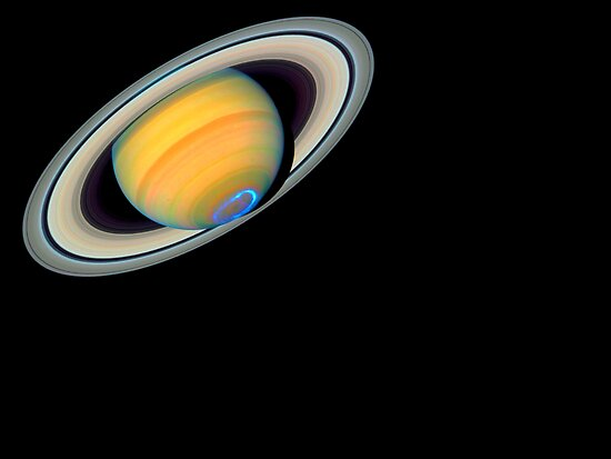 Saturn on a black background by Dennis Melling