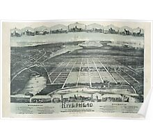 Panoramic Maps Riverhead the home resort of Long Island New York NY Poster