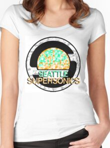 SONICS WHITE Women's Fitted Scoop T-Shirt
