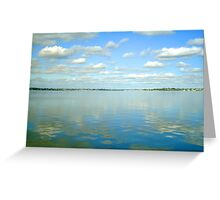 Reflection On The Swan River Greeting Card