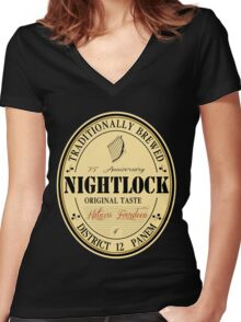Lovely day for a Nightlock Women's Fitted V-Neck T-Shirt