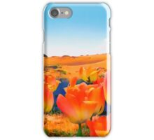 East Meets West, vibrant sand dunes and tulips iPhone Case/Skin