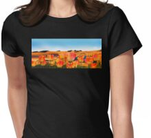 East Meets West, vibrant sand dunes and tulips Womens Fitted T-Shirt