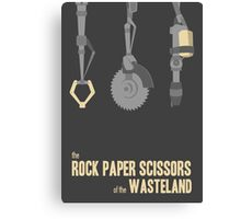 The rock, paper, scissors of the Wasteland Canvas Print