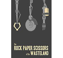 The rock, paper, scissors of the Wasteland Photographic Print