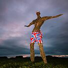 Wickerman In Jubilee Shorts by Brian Kerr