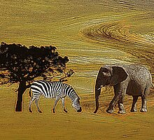 Abstract Africa by shalisa