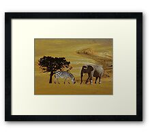 Abstract Africa Framed Print