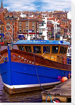 Whitby Fishing Trawler. by Trevor Kersley