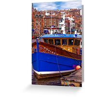 Whitby Fishing Trawler. Greeting Card