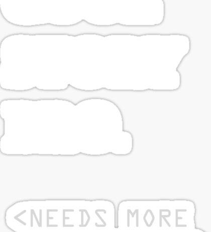 Metadata matters - white Sticker