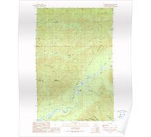USGS Topo Map Washington State WA Kloochman Rock 241795 1990 24000 Poster
