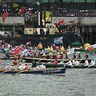 Rowing Flotilla Diamond Jubilee 2012 by mike  jordan.