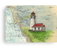 Cape Blanco OR Lighthouse Nautical Map Cathy Peek Canvas Print