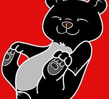 Black Bear Cub by Grifynne