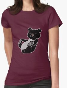 Black Bear Cub Womens Fitted T-Shirt