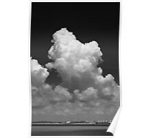 Cloud in monochrome Poster