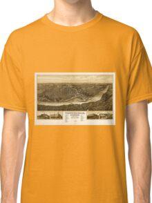 Panoramic Maps Chippewa-Falls Wisonsin sic county-seat of Chippewa County 1907 Classic T-Shirt