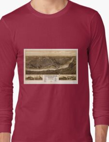 Panoramic Maps Chippewa-Falls Wisonsin sic county-seat of Chippewa County 1907 Long Sleeve T-Shirt