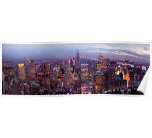 New York Skyline Panorama Poster