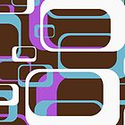 Retro 70's Wallpaper Pattern by Chillee Wilson by ChilleeWilson