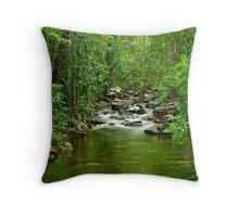 Florence Falls Creek - Portrait Throw Pillow