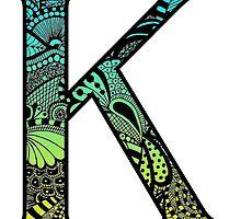Kappa Letter Doodle by trendysticks
