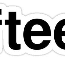 fifteen Sticker