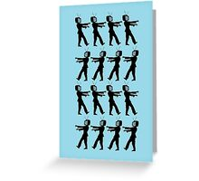March of the Zombie TV Guys by Chillee Wilson Greeting Card