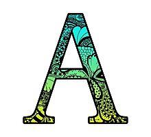 A Letter Doodle Photographic Print