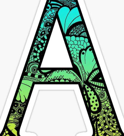 A Letter Doodle Sticker