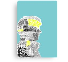 Sherlock Typography Art Canvas Print