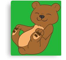 Brown Bear Cub Canvas Print