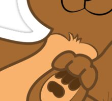 Brown Bear Cub Sticker