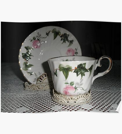 Beautiful Tea Cups Poster