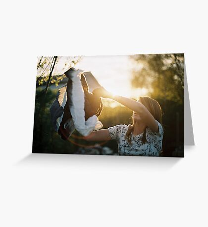 Red flare. Greeting Card