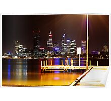 South Perth Jetty, Swan River Poster