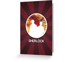 Sherlock Round Modern Poster Greeting Card
