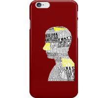 John Watson Typography Art iPhone Case/Skin