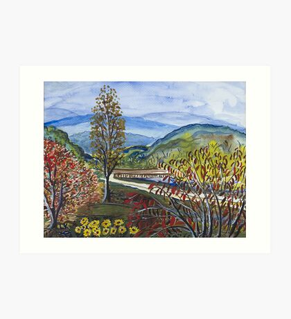 Albemarle Bridge Art Print