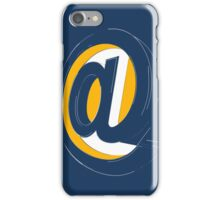Blue at sign iPhone Case/Skin