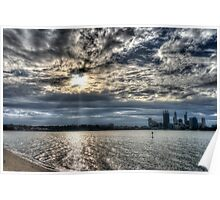 Swan river in late afternoon sun Poster