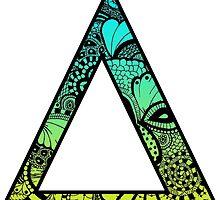 Delta Letter Doodle by trendysticks