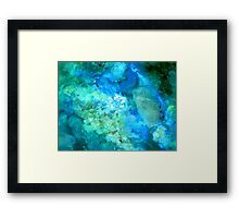 Texture In Blue And Green Framed Print