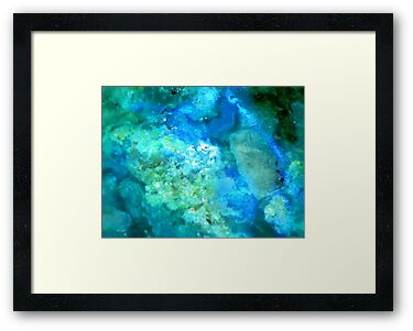 Texture In Blue And Green by Stephanie Bateman-Graham