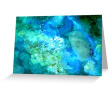Texture In Blue And Green Greeting Card